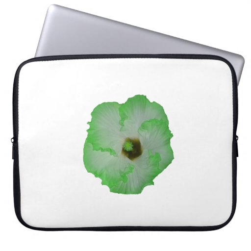 Flor verde del hibisco mangas computadora