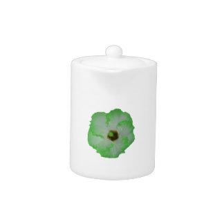 Flor verde del hibisco