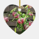 Flor verde marrón del jardín del lirio adorno para reyes