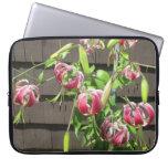 Flor verde marrón del jardín del lirio mangas portátiles