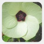 Flor verde natural colcomanias cuadradass