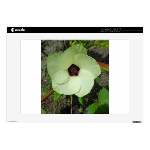 Flor verde natural portátil 38,1cm skin