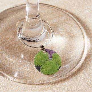 Flor verde y púrpura de la colección del encanto identificador de copa