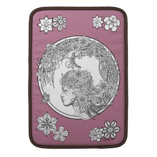 Flor vidente: Colorante adulto de DIY de Sonja Fundas MacBook