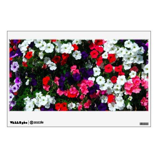 flor vinilo decorativo