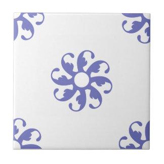 Flor violeta 7 del tulipán azulejo cerámica