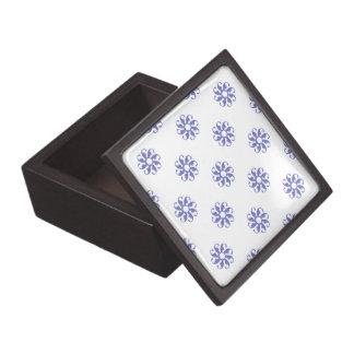Flor violeta 7 del tulipán cajas de recuerdo de calidad