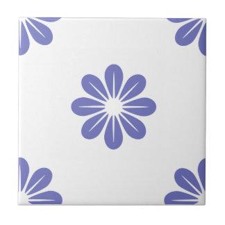 Flor violeta 8 del tulipán tejas  ceramicas