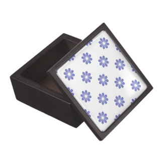 Flor violeta 8 del tulipán caja de recuerdo de calidad