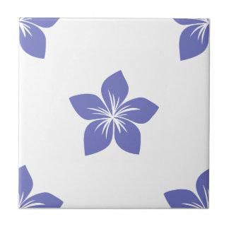 Flor violeta 9 del tulipán tejas