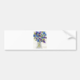 Flor violeta azul Vase.jpg Pegatina Para Auto