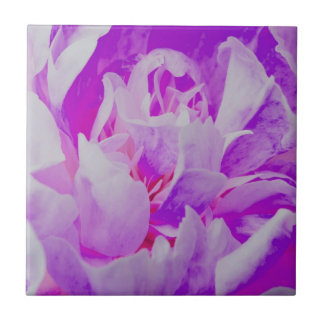 Flor violeta teja  ceramica