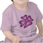 flor violeta camiseta