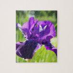 Flor violeta del iris rompecabeza con fotos