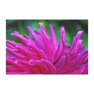Flor violeta impresión en lienzo