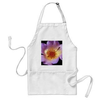 Flor violeta vibrante del resplandor interno delantal