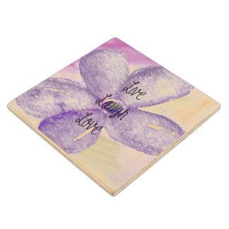 Flor viva de la acuarela púrpura