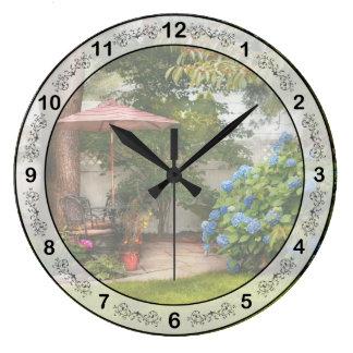 Flor - Westfield, NJ - paraíso privado Reloj Redondo Grande