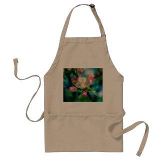 Flor y brotes de Crabapple Delantal