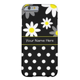 Flor y caso del iPhone 6 de Personalizable del Funda Barely There iPhone 6