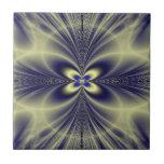 Flor y fractal de los remolinos azulejos cerámicos