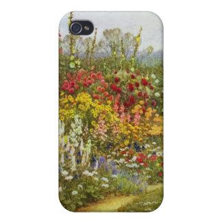 Flor y frontera herbácea iPhone 4 protectores