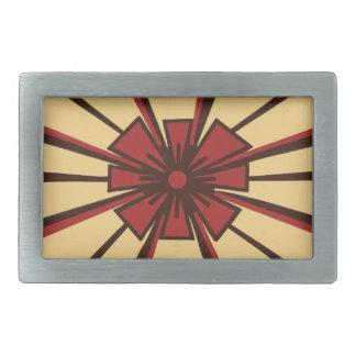 Flor y hebilla del cinturón abstractas de las hebilla cinturón rectangular