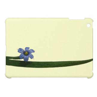 Flor y hoja de la hierba de ojos azules iPad mini cobertura