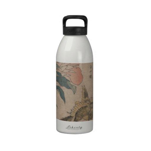 Flor y pájaro Hokusai Botallas De Agua