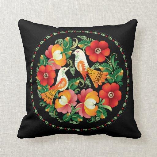 Flor y pájaro húngaros TBA del OPUS Almohadas