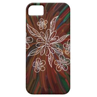 Flor y pintura abstracta funda para iPhone SE/5/5s