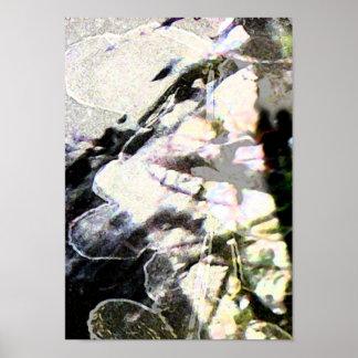 Flor y poster abstractos de las ramas