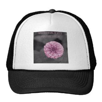 Flor y primavera coloridas gorras