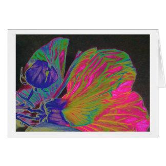 Flor y semilla del hibisco felicitacion