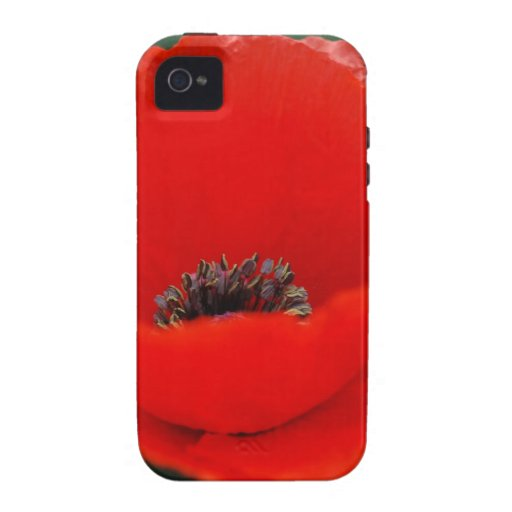 Flor y significado de la amapola iPhone 4 carcasa