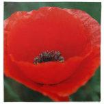 Flor y significado de la amapola servilletas imprimidas