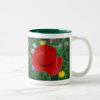 Flor y significado de la amapola tazas de café