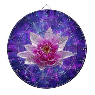 Flor y significado de loto rosada tablero dardos