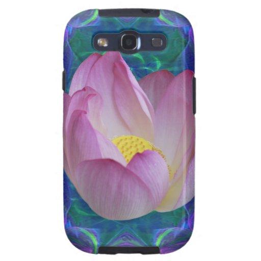 Flor y significado de loto rosada galaxy SIII carcasa