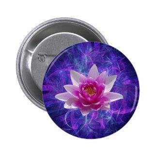 Flor y significado de loto rosada pin redondo de 2 pulgadas