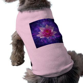 Flor y significado de loto rosada playera sin mangas para perro