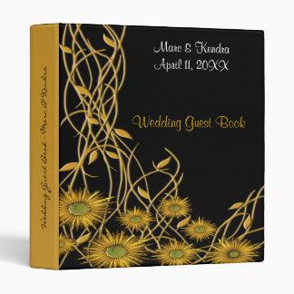 Flor y vid amarillas de oro del Grunge