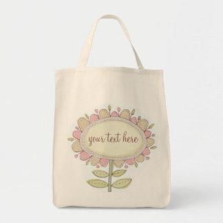 flora73 escogen el bolso de encargo bolsa tela para la compra