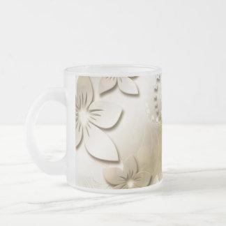 flora-108072 DIGITAL FRACTALS ART CLASSIC VICTORIA Frosted Glass Coffee Mug