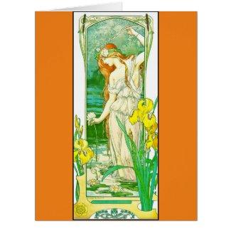 Flora 1905 large greeting card