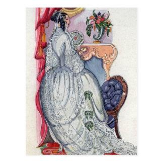 Flora, a Victorian Bride Postcard