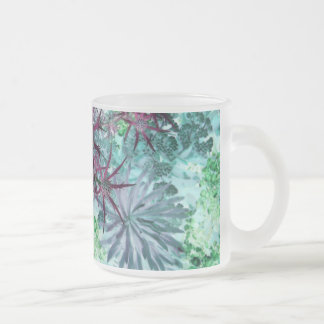 Flora and Fauna Frosted Glass Coffee Mug