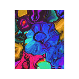 Flora Art Stretched Canvas Print