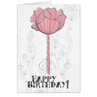 Flora Birthday Greeting Card