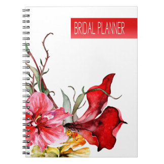 Flora Botanica Watercolor Flowers Bridal Planner Notebook
